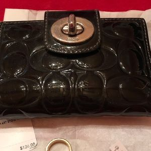 Coach liquid gloss Patent leather wallet